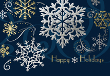 Snowflakes and Swirls Holiday Cards